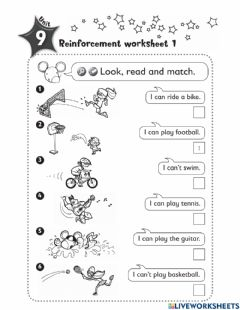 Interactive worksheet I can-can't