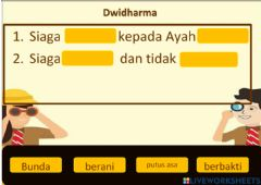 Interactive worksheet Lathan Pramuka 2
