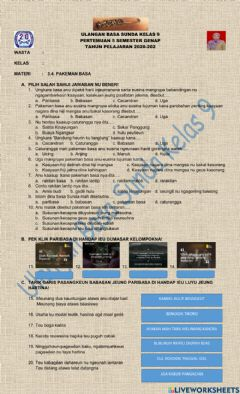 Interactive worksheet Uh interaktif pakeman basa