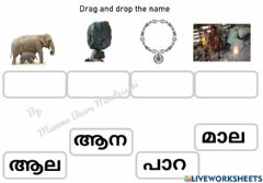 Ficha interactiva Malyalam Vocabulary practice