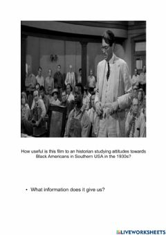 Interactive worksheet History of Black in America Mocking bird