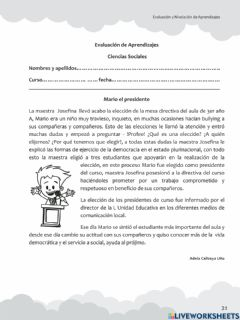 Interactive worksheet Diagnostico sociales