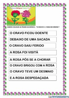 Interactive worksheet O cravo e a rosa