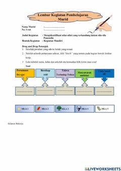 Interactive worksheet Tugas PPKn