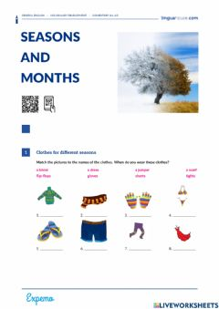 Interactive worksheet Seasons and Months