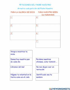 Interactive worksheet Peticiones  Padre Nuestro