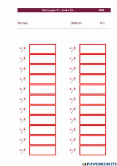 Interactive worksheet Partizipien II Audio 01