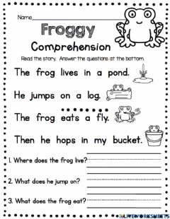 Interactive worksheet Froggy Story