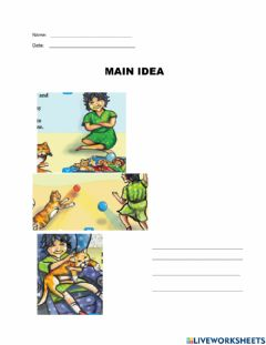Interactive worksheet Main Topic (Kitty and Me)