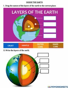 Interactive worksheet Inside the earth