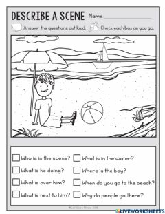 Interactive worksheet Wh Questions - Scene 3