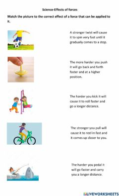 Interactive worksheet Forces and Motion