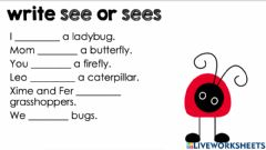 Interactive worksheet See and sees