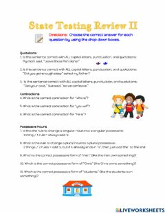Interactive worksheet State Testing Review 2