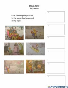 Interactive worksheet Brave Irene