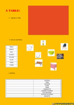 Interactive worksheet A table