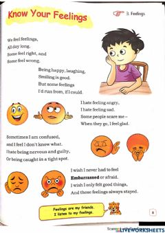 Ficha interactiva Class 4- Know your feelings