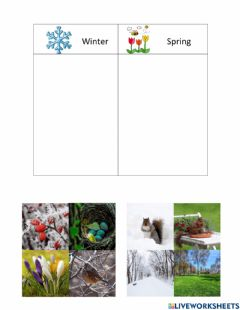Interactive worksheet When Spring Comes