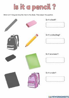 Interactive worksheet Is it a pencil?
