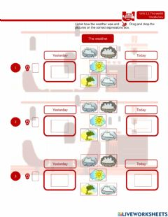 Interactive worksheet The weather + time expressions in past