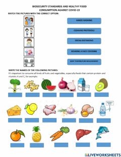 Interactive worksheet Biosecurity standars and healthy food