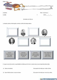 Interactive worksheet Célula vegetal