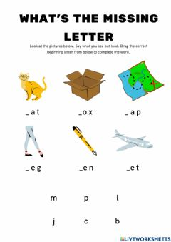 Interactive worksheet Initial Sounds-Recognition