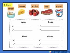 Interactive worksheet Grocery shopping  2
