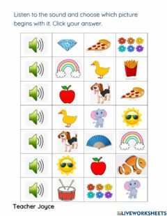 Interactive worksheet CONSONANT D and F