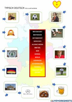 Interactive worksheet Typisch deutsch