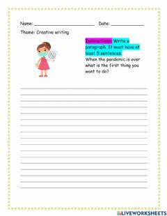 Interactive worksheet What is the first thing you want to do?
