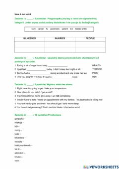 Interactive worksheet Repetytorium unit 8