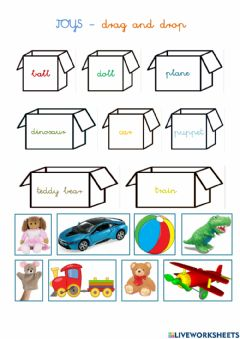 Interactive worksheet Toys - Drag and drop