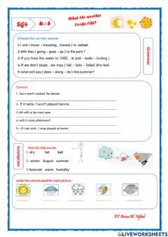 Interactive worksheet Super goal 4 u5