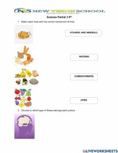 Interactive worksheet Nutrition and microorganisms
