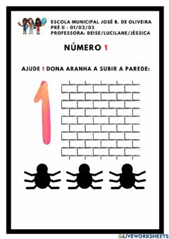 Interactive worksheet Numero 1 - Dona Aranha