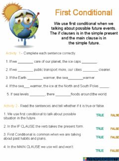 Ficha interactiva First Conditional - Global Warming