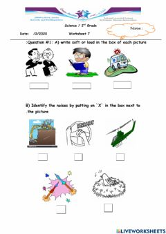 Interactive worksheet Using sounds