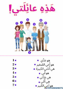Interactive worksheet العائلة
