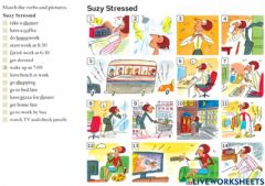 Interactive worksheet Suzy stressed