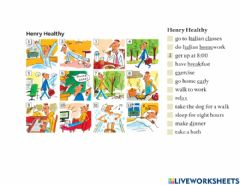 Interactive worksheet Henry Healthy