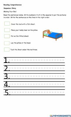 Interactive worksheet Sequence Story