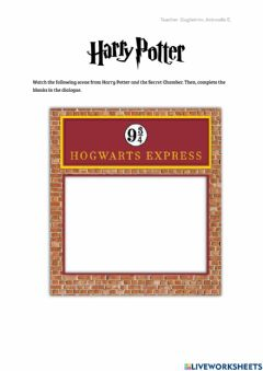 Interactive worksheet Harry Potter- The Flying Car