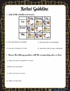 Interactive worksheet Review Guideline - 6th grade II