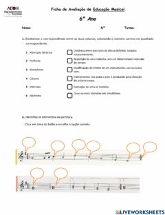 Interactive worksheet 3ª UNIDADE 6ºAno