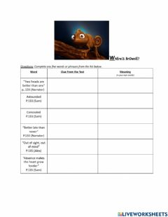 Interactive worksheet March 18 Context Clues