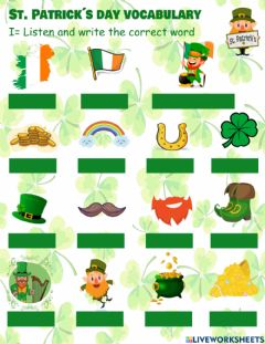 Interactive worksheet St. Patrick-s day