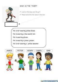 Interactive worksheet Who is the thief?