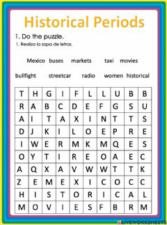 Interactive worksheet Historical Periods Mexico