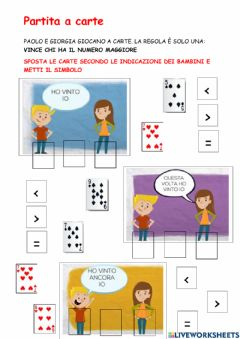 Interactive worksheet Confronto